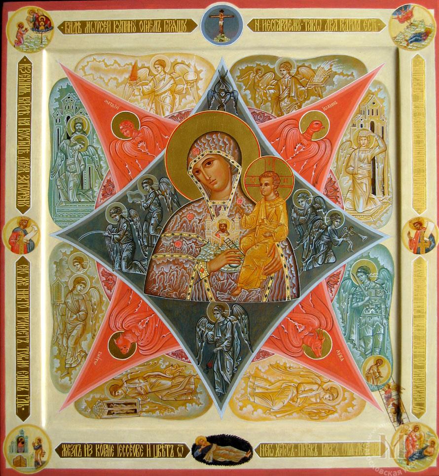 Образ божией матери неополимая купина